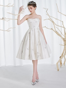 Ericdress Beautiful Sweetheart Printed Knee Length Wedding Dress