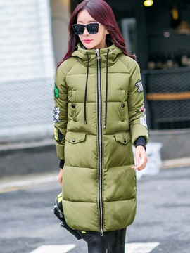 Ericdress Straight Letters Casual Coat