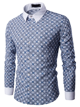 Ericdress Floral Long Sleeve Men's Shirt