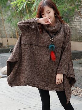 Ericdress Loose Turtleneck Batwing Cape
