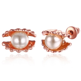 Ericdress Pearl Shell Stud Earrings