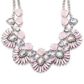 Ericdress Pink Gemstones Flower Jewelry Set