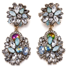 Ericdress Colorful Zircon Earrings