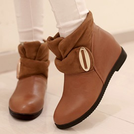 Ericdress Patchwork Round Toe Ankle Boots
