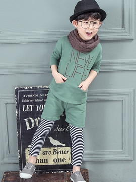 Ericdress Letter Stripe Boys Outfits