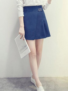 Ericdress Preppy Asymmetric Usual Skirt