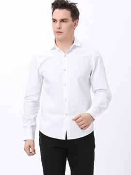 Ericdress Plain Slim Business Men's Shirt
