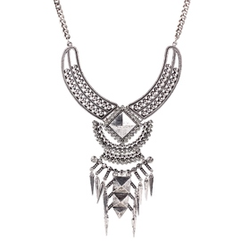 Ericdress Exaggerated Diamante Alloy Necklace