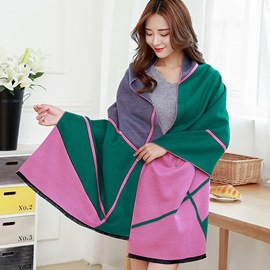 Ericdress Geometric Color Block Shawl