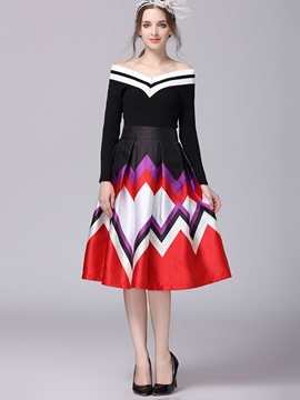 Ericdress Ladylike A-Line Skirt Leisure Suit
