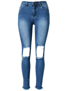 Ericdress Unique Pencile Hole Jeans