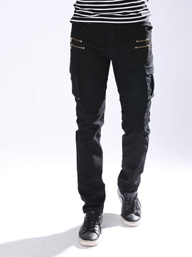 Ericdress Multi-Zip Vogue Denim Casual Men's Pants