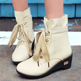 Ericdress Lovely Lace up Ankle Boots