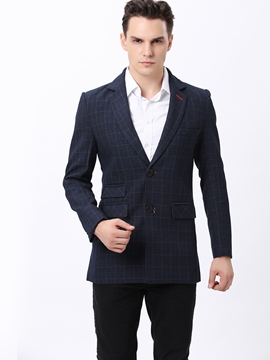 Ericdress Vogue Classic Plaid Men's Blazer