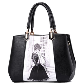 Ericdress Ladylike Figure Print Shell Handbag