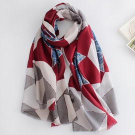 Ericdress Diamond-Shaped Pattern Scarf