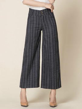 Ericdress Stripe Print Loose Pants