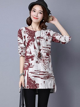 Ericdress Printed Mid-Length T-Shirt