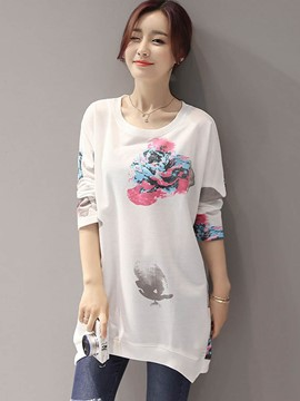 Ericdress Printed Loose Casual T-Shirt
