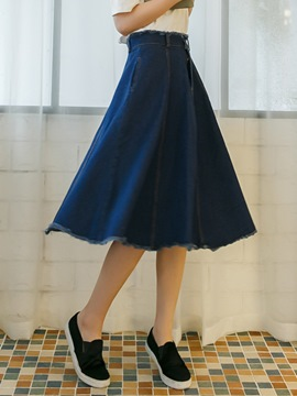 Ericdress Preppy Denim Usual Skirt