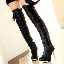 Ericdress Splendid Lace up Knee High Boots