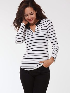 Ericdress Stripe Slim Casual T-Shirt