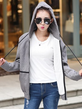 Ericdress Casual Loose Color Block Hoodie