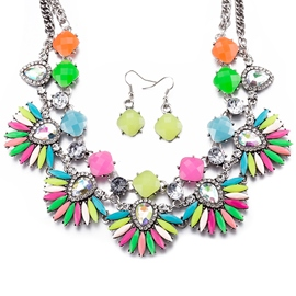 Ericdress Multi Color Geometric Design Jewelry Set