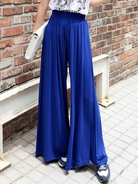 Ericdress Loose Solid Color Pants