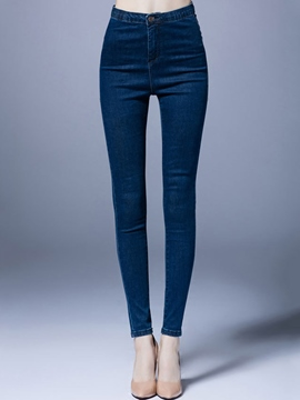 Ericdress High-Waist Zipper Full Length Skinny Jeans