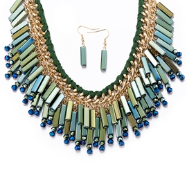 European Style Alloy Green Jewelry Set