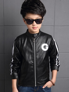 Ericdress Zipper Leather Boys Jacket