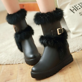 Ericdress Charming Furry Elevator Heel Ankle Boots