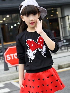 Ericdress Appliques Mickey Knitting Girls Outfit