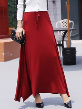 Ericdress Casual Split Maxi Skirt