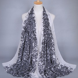 Ericdress Hot Sale Voile Printed Scarf