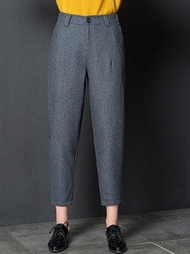Ericdress High-Waist Thick Loose Pants