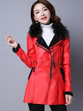 Ericdress Color Block Asymmetric Jacket