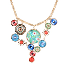 Ericdress Baroque Flowers Pendant Necklace