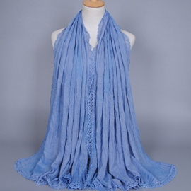 Ericdress High Quality Pure Color Cotton Scarf