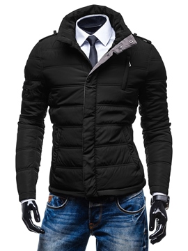 Ericdress Thicken Warm Slim Men's Jacket