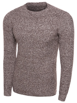 Ericdress Simple Plain Crew Neck Men's Sweater