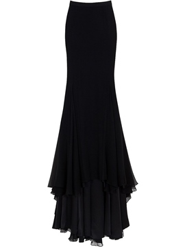 Ericdress Vintage Layed Frill Maxi Skirt