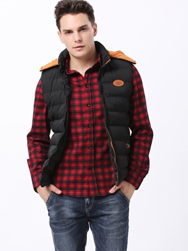 Ericdress Plain Stripe Thicken Warm Casual Men's Vest