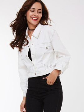 Ericdress Solid Color Single-Breasted Casual Jacket