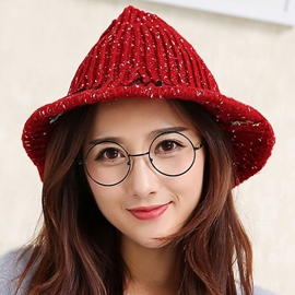 Ericdress Cone Crown Design Women's Knitted Hat