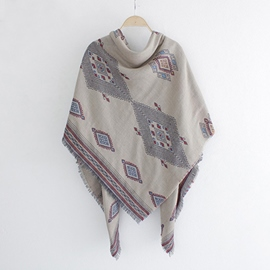 Ericdress Square Thick Linen Scarf/Shawl