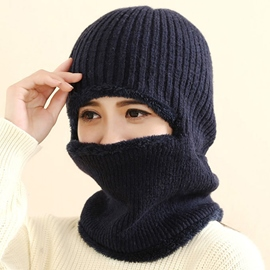 Ericdress Pure Color Protective Ear Hat with Mask