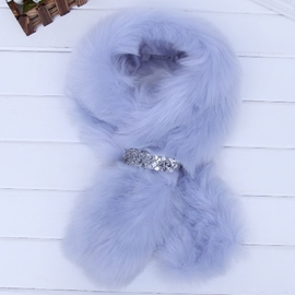 Ericdress Solid Color Furry Neck Warmer