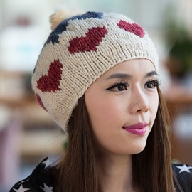 Ericdress Heart-Shaped Pattern Knitted Hat